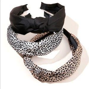 New 3 pcs. Leopard Print Head Band